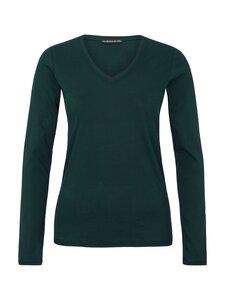 V-Neck Shirt Supima - green - Les Racines Du Ciel