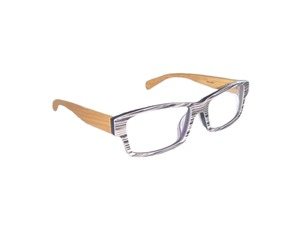 Nerd Brille - STRIPES - woodlike - Eco Unit T