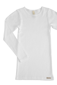 Fairtrade Shirt langarm, weiss - comazo|earth