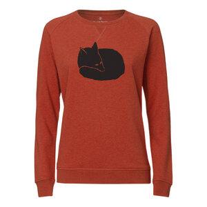 ilovemixtapes Fuchs Sweatshirt black/heather brick orange - ilovemixtapes