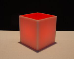 cube S 125 weiß / rot - beelumination