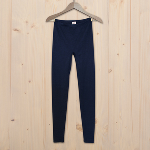 Leggings Wolle Seide - dunkel blau - People Wear Organic