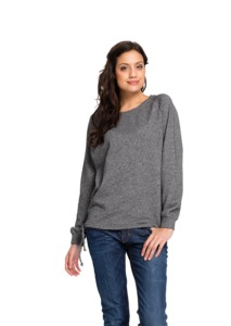 Frauen Sweatshirt Casual dunkelgrau flamé - recolution