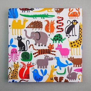 Recycling-Geschenkpapier Bunte Tierwelt - Lisa Jones