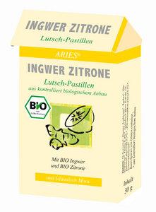 Bio Ingwer Zitrone Lutsch Pastillen - ARIES