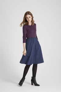 Gabrielle Jersey Skirt - Blue Melange - People Tree