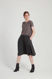 Gabrielle Jersey Skirt - Melange - People Tree