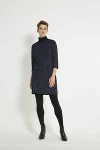 Tanya Shift Dress - Navy - People Tree