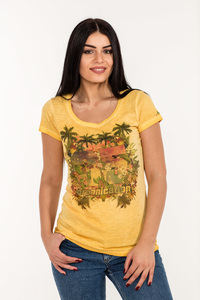 WOR-1670 DAMEN D.DYED T-SHIRT - ORGANICATION