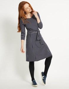 Adina Dress - Navy Stripe - People Tree
