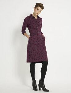Aileen Shirt Dress - Plum - People Tree