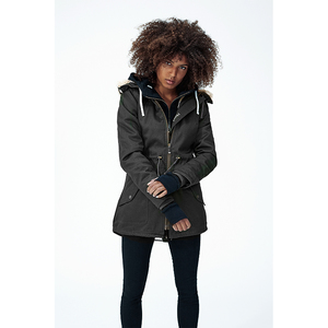 Ladies' HoodLamb Parka - Black - Hoodlamb