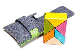 Magnetische Holzbausteine für groß & klein - 6tlg. Pocket Set mit Filztasche - TEGU