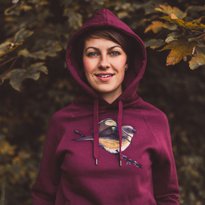 Robert Richter – Save the Planet Bird - Organic Cotton Unisex Hoodie - Nikkifaktur