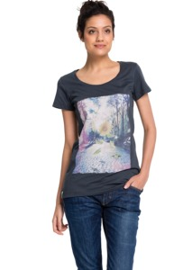 Women T-Shirt Breaking Out graphite - recolution