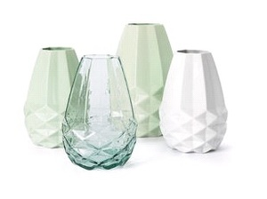 FAIRTRADE VASE DIAMANT - mintgrün Keramik - Fair Trade Original