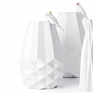 FAIRTRADE VASE DIAMANT - weiss Keramik - Fair Trade Original