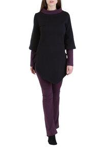 Pullover Kayley schwarz-violett - Ajna