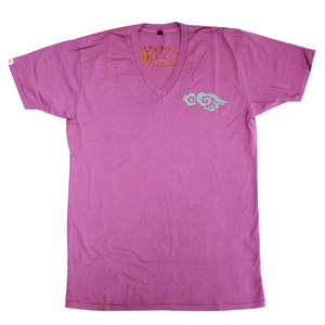 Unisex Short Sleeve V-Neck Tee with Cloud - Chakura by Ku Ambiance