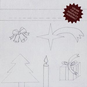 """Weihnachtskarte """"Weihnachtsgruß zum Ausmalen"""" mit Kuvert - Carlique"""