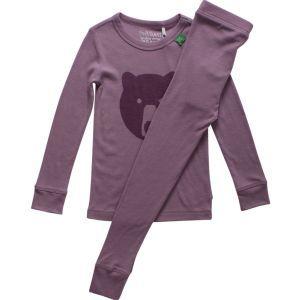 Woll Pyjama Bär altrosa - Green Cotton