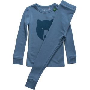 Woll Pyjama Bär blau - Green Cotton