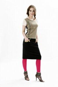 Shirt Lakshmi khaki - Göttin des Glücks