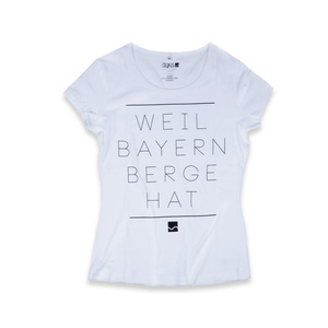 Shirt Weil Bayern Berge hat weiß - Degree Clothing