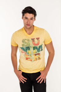 MOR-1581 HERREN G.DYED T-SHIRT - ORGANICATION