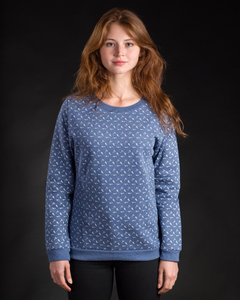 Sweater Smoking Ax-Allover dunkelblau - Degree Clothing