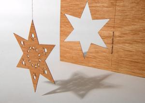 Zedernholzkarte Stern - Just Be