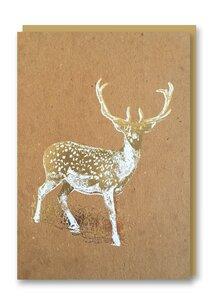 Weihnachtskarte Deer - 1973