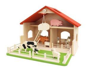 Bauernhof aus Holz Attler Hof wunderschön und qualitativ hochwertig ohne Tiere - Fairwerk Werkstäten