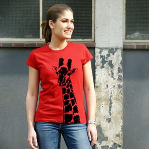 'Stefanie la Girafe' Frauen-T-SHIRT FAIR TRADE - shop handgedruckt