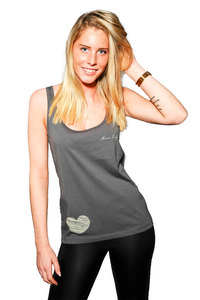 "Weitfallendes Tanktop von Human Family ""Flow Little Heart"" - Human Family"