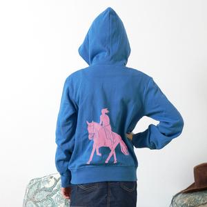 Kinder Zip Up Hoody 'Galopp' - shop handgedruckt