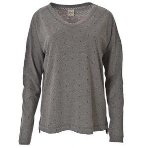 Oversized Shirt Grau Gemustert - People Wear Organic