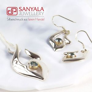 Silber-Schmuckset FLAME Fairtrade - SANYALA