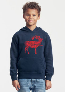 Bio-Kinder-Kapuzen-Sweatshirt Harry Hirsch - Peaces.bio - Neutral® - handbedruckt
