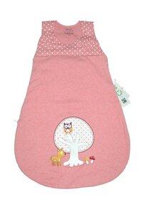 Baby Schlafsack altrosa mit Applikation - Naturkleidung - EBi & EBi