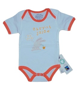 Fairtrade Body Hase orange Bio Baumwolle - EBi & EBi