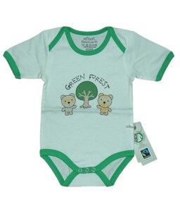 Fairtrade Body Bären grün Bio Baumwolle - EBi & EBi