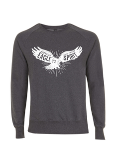 Vintage Style American Bald Eagle Spirit Badge Icon Unisex Pullover - California Black Plate