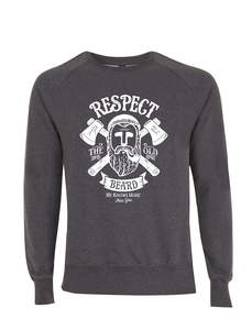 Respect the Old Beard Grafik Vintage Style Unisex Pullover - California Black Plate