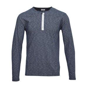 Narrow Yarn Dyed Long Sleeved T-Shirt blau/grau - KnowledgeCotton Apparel