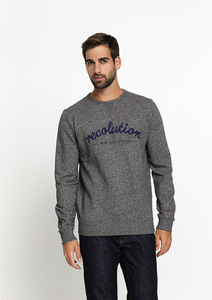 Sweatshirt #reco dunkelgrau flamé - recolution