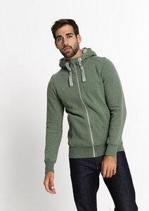 Zipper Jacke CLASSIC green melange - recolution