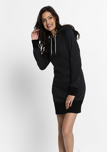 HOODIE DRESS black / graphite - recolution