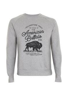 American Buffalo Co. Yellowstone Icon Vintage-Style Unisex Pullover - California Black Plate