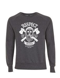 Respect the Old Beard Grafik Vintage Style Unisex Pullover - California Black Plate